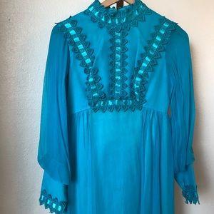 Vintage Empire Waist Dress - Size 2/4